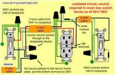 Home Electrical Switch Wiring Diagrams : multiple outlets controlled by a single switch home ~ A.2002-acura-tl-radio.info Haus und Dekorationen