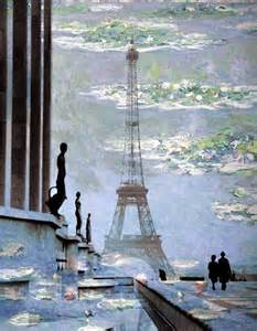 Claude Monet Paintings Paris Eiffel Tower