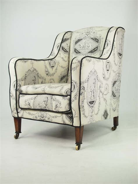 Antique Edwardian Armchair In Laura Ashley Fabric