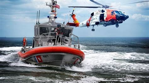 Sinking Boat Test by U S Coast Guard Responds To Reports Of 2 On