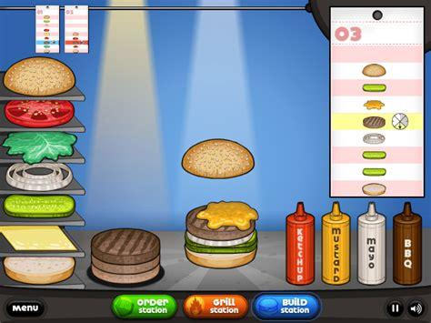 jeux de cuisine gratuit papa louis jeux de cuisine les burgers de papa louis