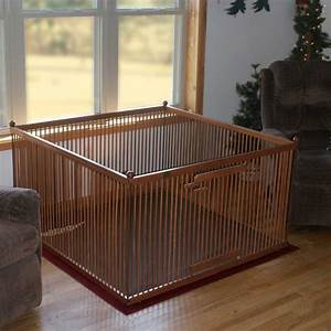 Dog play pen indoor pet pen portable dog pen for Wooden dog pens for inside