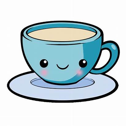 Tea Coffee Kawaii Clipart Cup Transparent Bubble