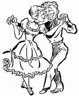 Square Dance Clip Clipart Line Cliparts Dancer Graphics Library Illustration sketch template