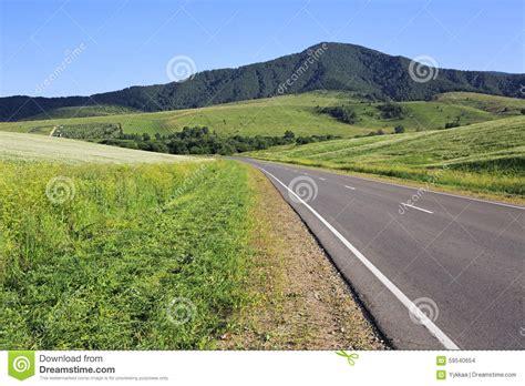 Beautiful Road Among Farm Fields Stock Photo Image 59540654