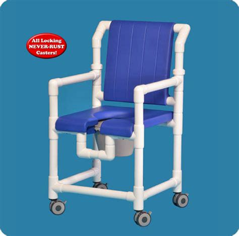 open front soft seat deluxe shower chair commode with
