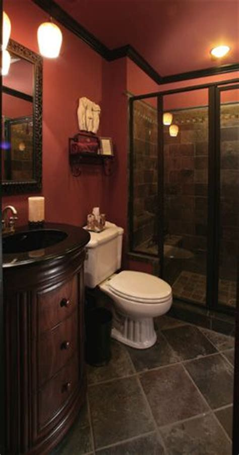 neatest basement bathroom idea  date black toilet