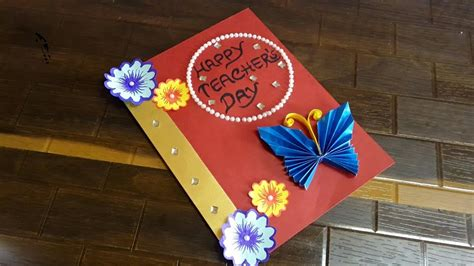 creative greeting cards teachers day step  step