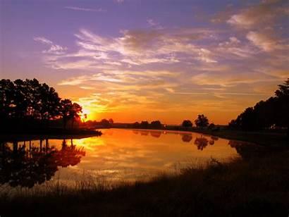 Sunrise Wallpapers Sun Desktop Rising Nature Pond