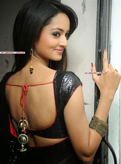 my country actress shanvi srivastava hot in black saree photos