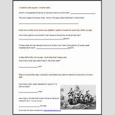 Christopher Columbus Worksheet Packet For 1st3rd Graders  Mamas Learning Corner