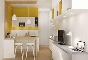 Idée Aménagement Petite Cuisine : idee amenagement cuisine amenagement petite cuisine ~ Dailycaller-alerts.com Idées de Décoration