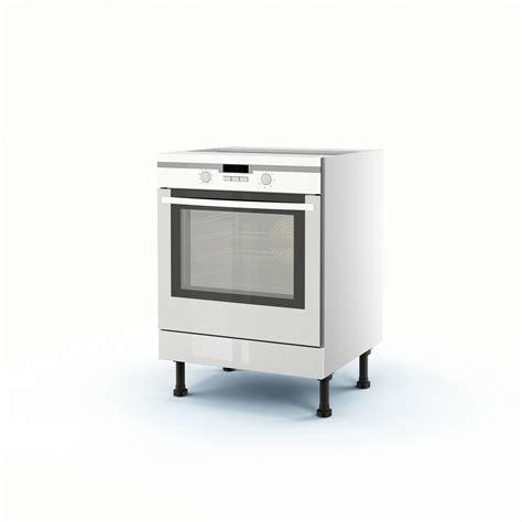 meuble de cuisine bas blanc four rio h 70 x l 60 x p 56 cm