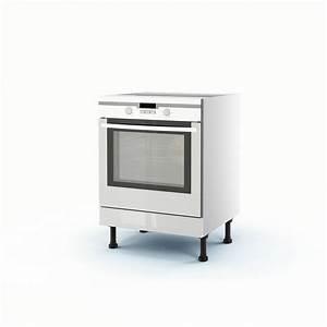 meuble de cuisine bas blanc four rio h70 x l60 x p56 cm With meuble four encastrable leroy merlin