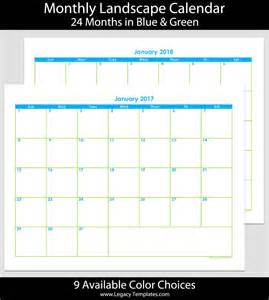Printable Monthly Calendar 2017 2018
