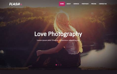 focus photography bootstrap  website template