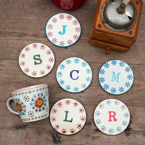 ceramic alphabet coasters bohemia alphabet coasters