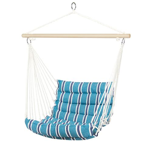 Hammock Chair Hanging Kit by Deluxe Padded Cotton Hammock Hanging Chair Indoor Outdoor