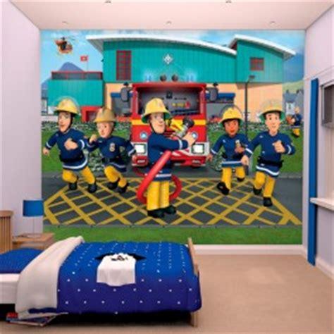 chambre a air voiture papier peint enfant sam le pompier walltastic 305x244 cm