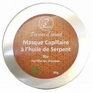 Masque Capillaire Huile De Coco : masque capillaire protecteur l 39 huile de serpent sans rin age bio vegan 80g ~ Melissatoandfro.com Idées de Décoration