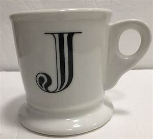 anthropologie monogram ceramic coffee cup mug personalized With monogram letter coffee mugs