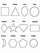 Shapes Coloring Pages Printable Sheets Educational Template Attribute 1000px 56kb sketch template