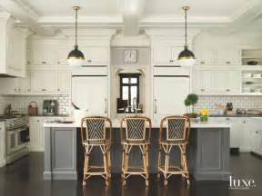 french bistro kitchen  subway tile seated island