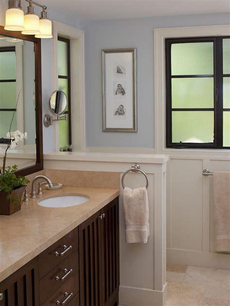 Half Bathroom Wall Decor Ideas by Half Wall Bathroom Design Ideas Pictures Remodel Decor