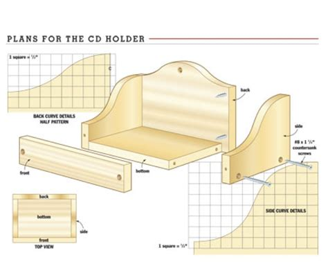 cd holder woodworking plans woodshop plans