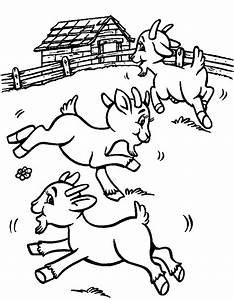 goat coloring pages - coloring pages of baby goats the image