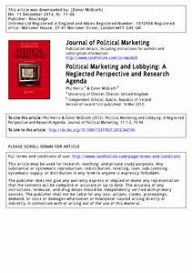 (PDF) Political Marketing and Lobbying: A Neglected ...