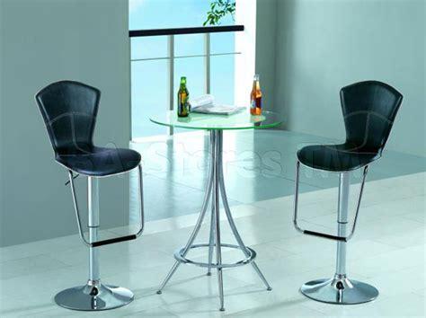 glass pub table set modern bar set glass bar table and two bar stools