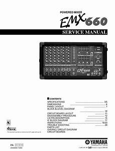 Yamaha Emx660 Mixer Service Manual And Repair Guide In