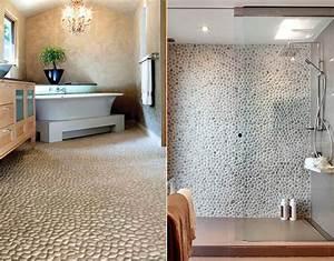 Badezimmer Deko Ideen : deko ideen mit steinen f r innen und au en modernes badezimmer design mit steinfliesen freshouse ~ Indierocktalk.com Haus und Dekorationen