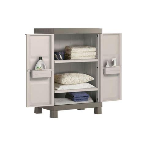 armario de resina  exterior dos estantes