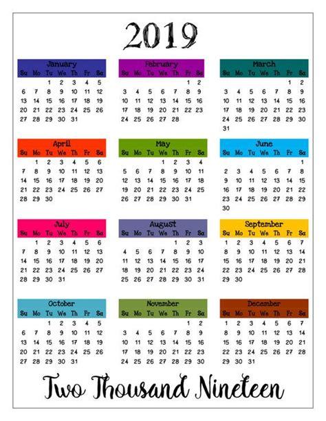 Holiday Calendar 2019 2020