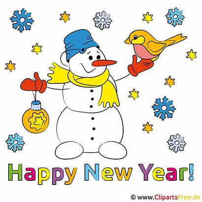 Jahr Neues Frohes Clipart Silvester Felice Anno
