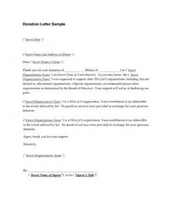 donation receipt letter for tax purposes sle donation
