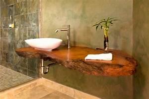 Salle De Bain Originale : la d co de salle de bain en bois 107 photos ~ Preciouscoupons.com Idées de Décoration