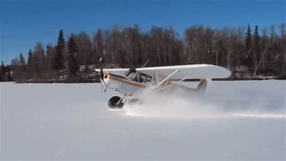 Snow Plane Landing