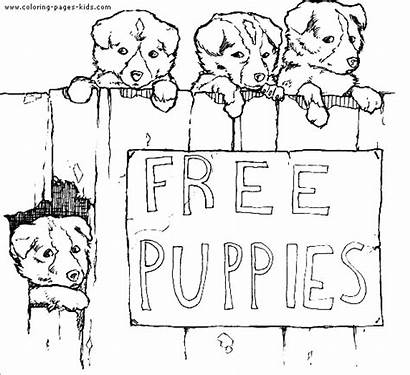 Coloring Pages Puppies Puppy Dog Printable Dogs