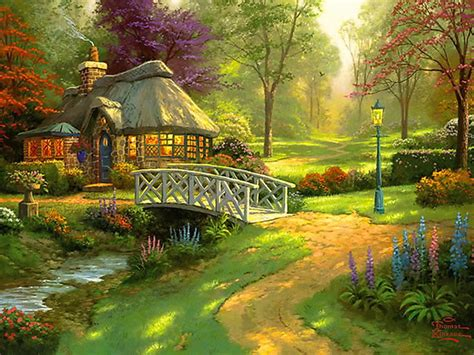 country cottage wallpaper wallpapers