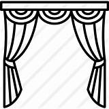 Curtains Clipart Stage Icon Window Drawing Theatre Theater Bedroom Curtain Svg Premium Getdrawings Buildings Others Clipground sketch template