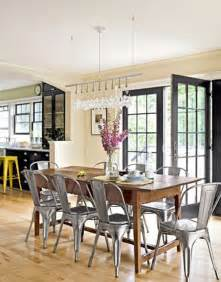 country living dining room ideas yes tolix chairs