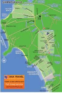 Sihanoukville Cambodia Map