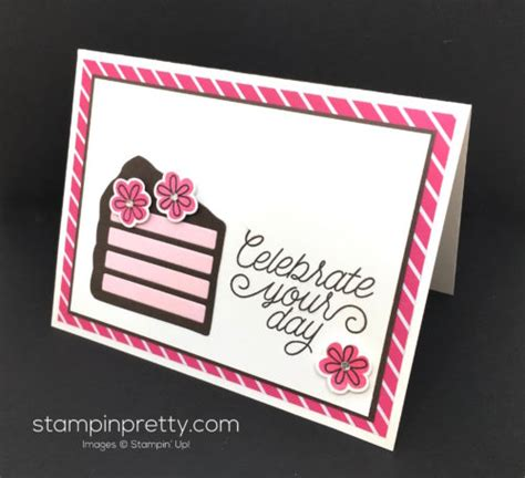 birthday card   piece  cake stampin pretty