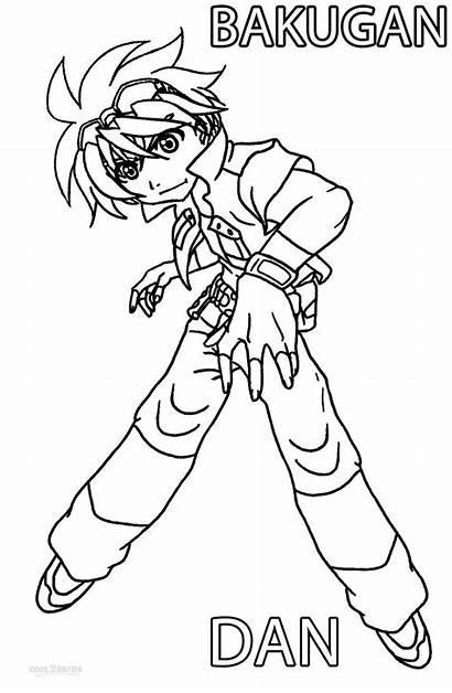 Bakugan Coloring Pages Printable Cool2bkids Dan Cartoon