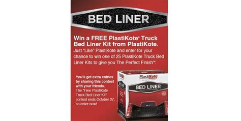 Plastikote Bed Liner by Plastikote Truck Bed Liner Kit Contest Announced