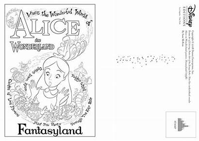 Disney Coloring Poster Parks Postcards Creativity Inspire