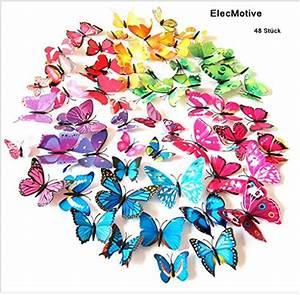 3d Schmetterlinge Wand : wandsticker schmetterlinge g nstige wandsticker online kaufen ~ Whattoseeinmadrid.com Haus und Dekorationen